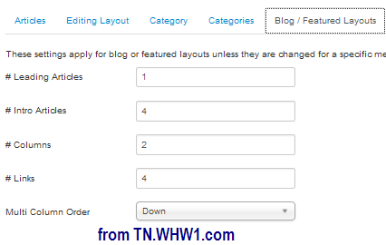 Blog or Featured Layouts