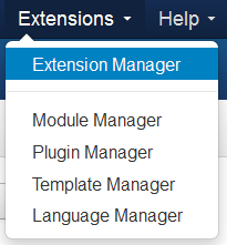 Select Extensions Manager from Extension menu at top