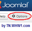 Click on Options button