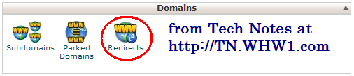 cpanel domains redirect